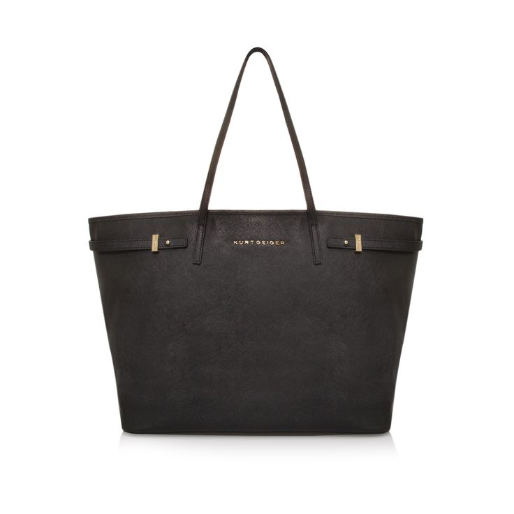great travel size. saffiano tote, black accessory by kurt geiger london - bags accessories bags