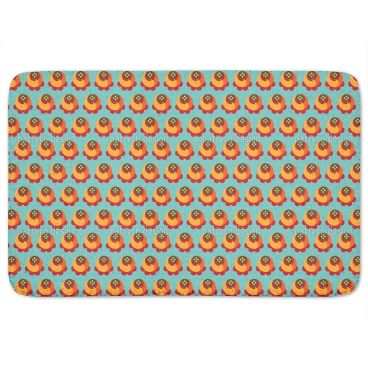 Uneekee Buddy Orange Bath Mat