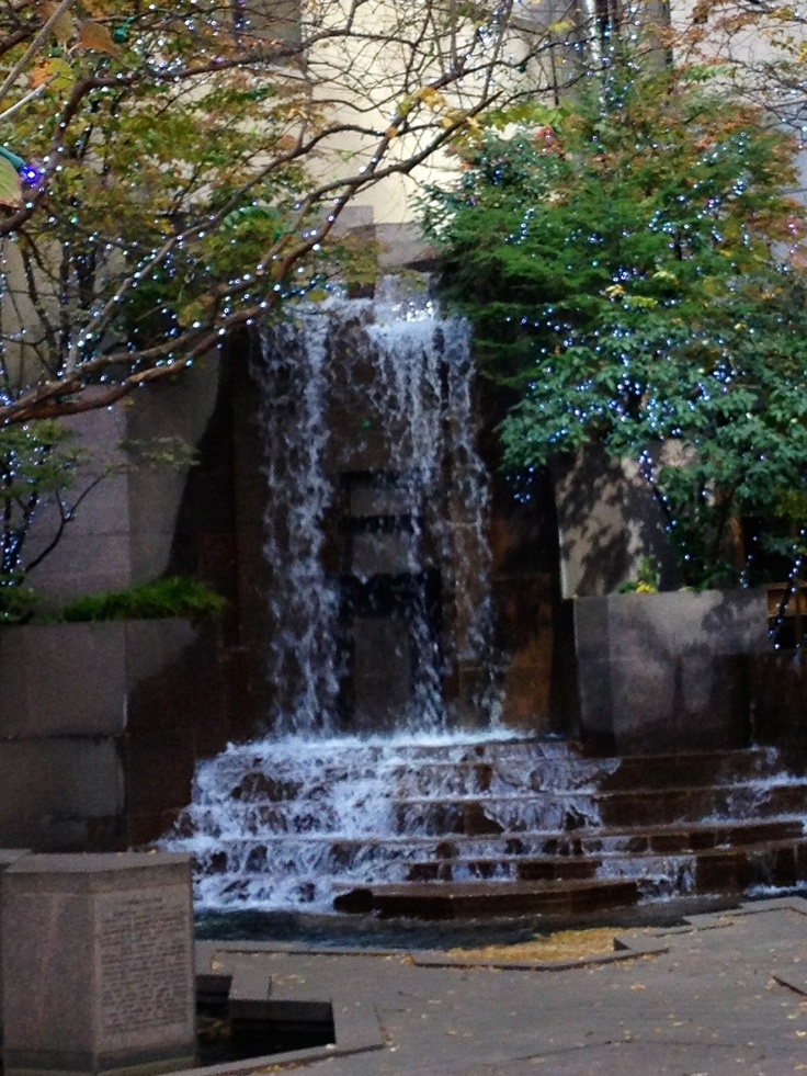 Charlotte North Carolina, I know this spot in downtown Charlotte. I've even seen it partially frozen in the winter!