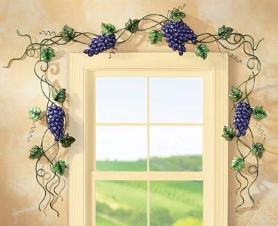 45 best images about tuscan grape theme kitchen on pinterest Metallic home decor pinterest