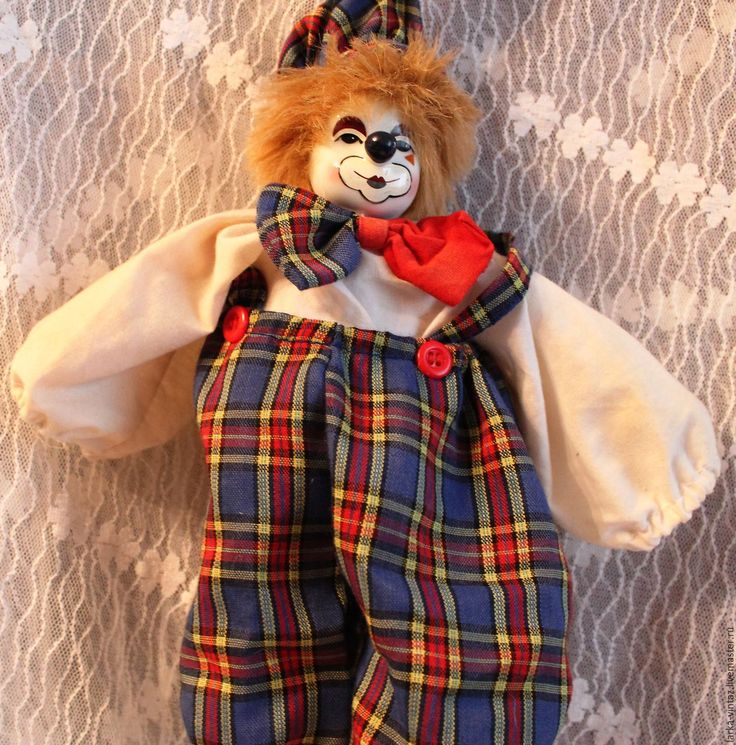 Купить Винтаж. Кукла Веселый клоун. - комбинированный, кукла клоун, купить клоуна, детские клоуны