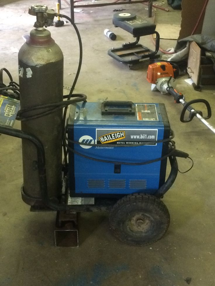 Easy compact mig welder cart made from power washer cart