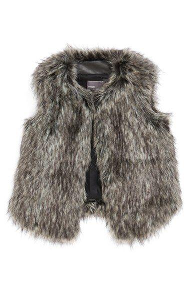 Vince Faux Fur Vest (Big Girls) available at #Nordstrom