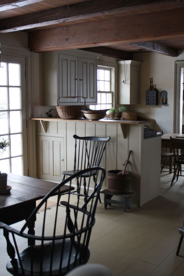 Early American Kitchen | Content in a Cottage