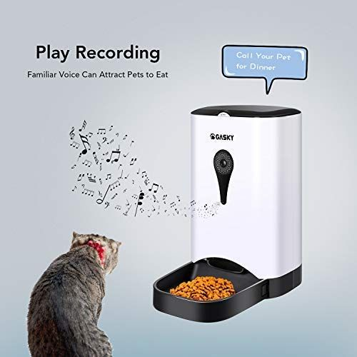 Gasky Automatic Cat Pet Smart Feeder A App Control Dog Food Dispenser With Wifi 4 5l Large Capacitydistribution Alarms Portio Dog Feeder Dog Food Recipes Portion Control