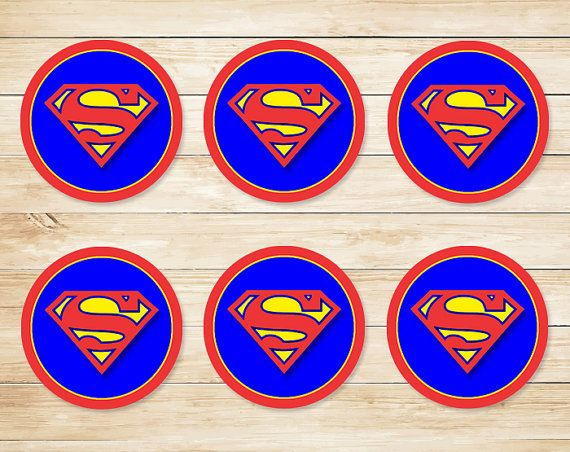 Hey, I found this really awesome Etsy listing at https://www.etsy.com/listing/228042823/superman-sticker-superman-cupcake-topper