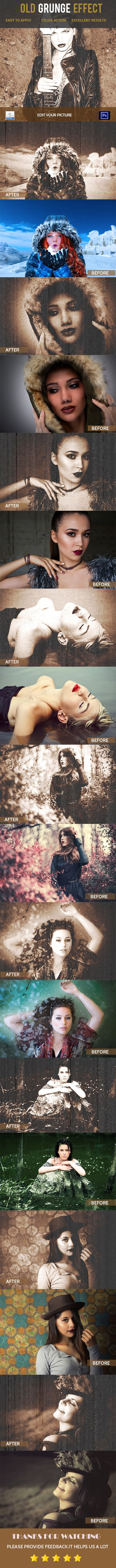 Old Grunge #Photoshop Action - Photo Effects #Actions Download here: https://graphicriver.net/item/old-grunge-photoshop-action/19682910?ref=alena994