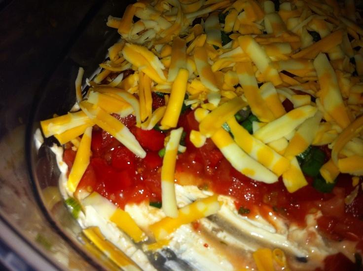 layered nacho dip | Recipe Ideas | Pinterest