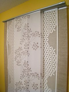 Ikea panel curtains layered for a window covering