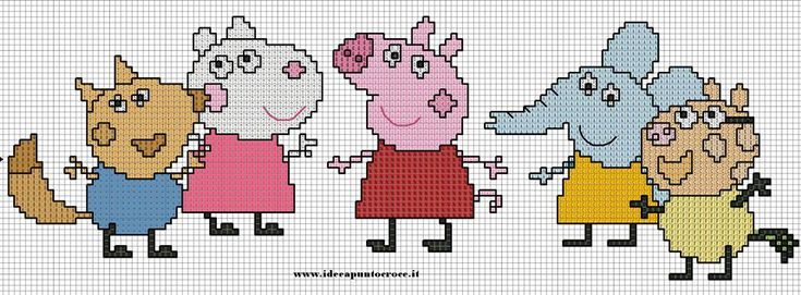 PEPPA PIG PUNTO CROCE - CROSS STITCH by syra1974.deviantart.com on @deviantART