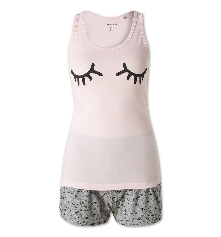Pyjama en coton bio dans rose
