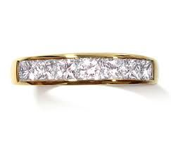 Image result for 7 stone princess cut diamond channel set ring