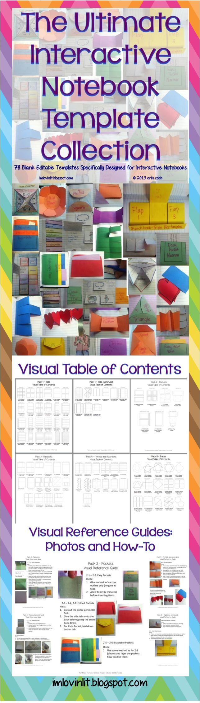 78 blank templates specially designed to work in your interactive notebooks. These templates also work well in lapbooks. YES YOU CAN! You may use these templates in your own TpT products. You will receive these files in 2 formats – a PDF version ready to print and a PowerPoint version ready to edit. $6 TpT