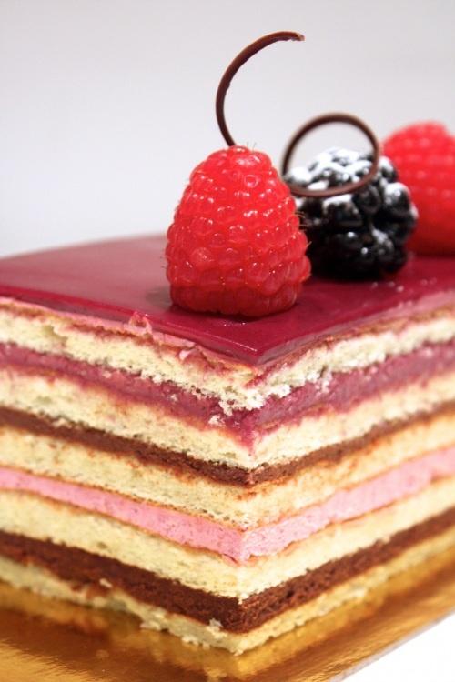 Opera style layer cake