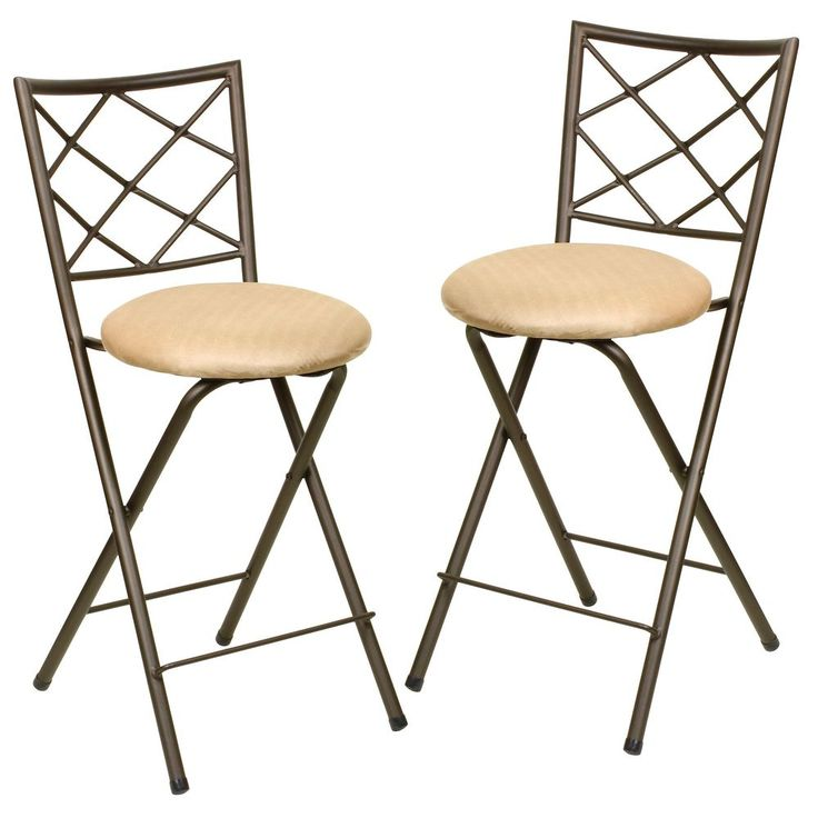Folding Bar Stool Chair Set (Set of 2) | Overstock™ Shopping - Great Deals on Bar Stools