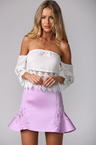 Whistles Skirt Lilac