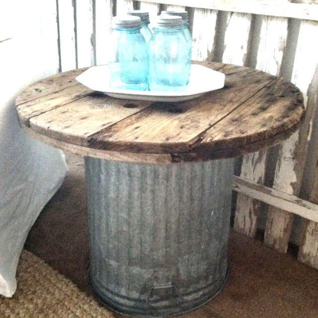 Junk TableOutside Backyards, Cabin Patios, Things, Back Patios