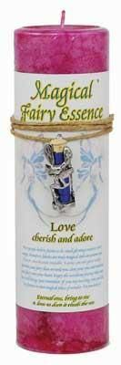 Love Pillar Candle With Fairy Dust