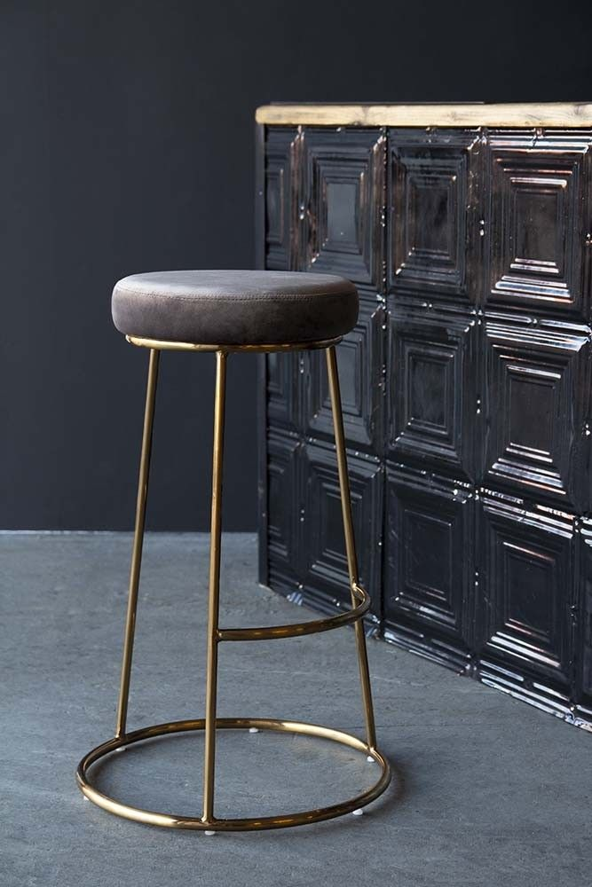 Atlantis Velvet Bar Stool Mushroom Kitchen Bar Stools Bar