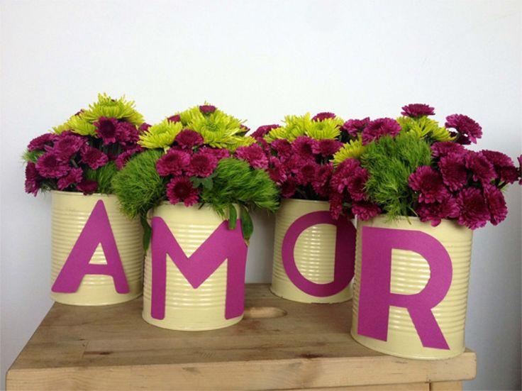 Arreglos para shower de novia Purple and green wedding shower www.elconvite.com.co