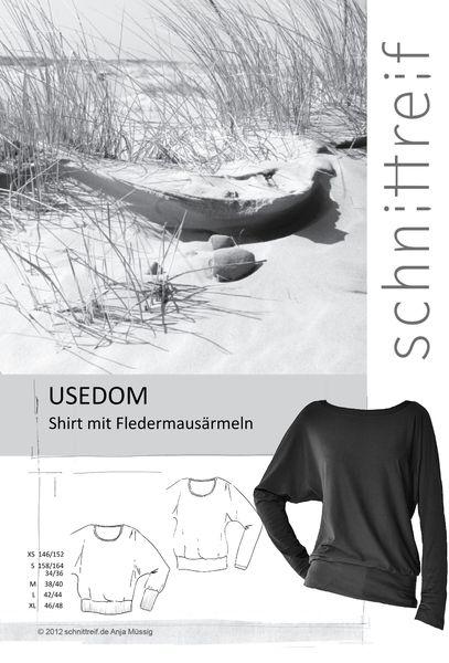 USEDOM Shirt mit Fledermausärmeln     Usedom ist ein bequemes Basicshirt mit Fledermausärmeln und breitem Saumbund. Die Ärmel können mit oder ohne bre