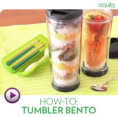 Lunch packed in a tumbler is fast gaining popularity in the bento world. How exciting! Learn how right here.