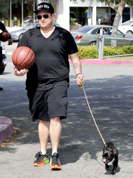 Photo of Jonah Hill & his  Dog Carmela