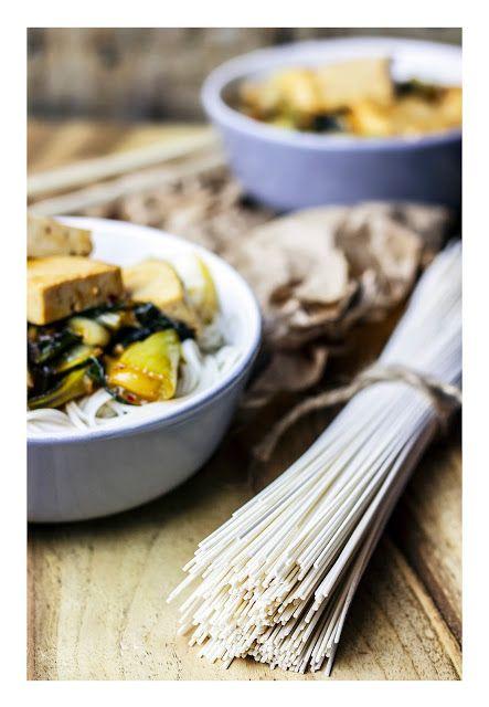 Tofu & bok choy noodles