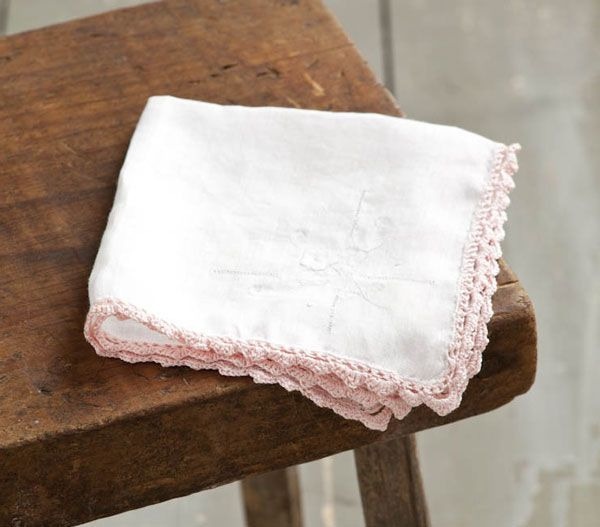 Discover how to make a hanky just like grandma used to have, embellished with a simple crocheted edge. From MOTHER EARTH NEWS magazine.