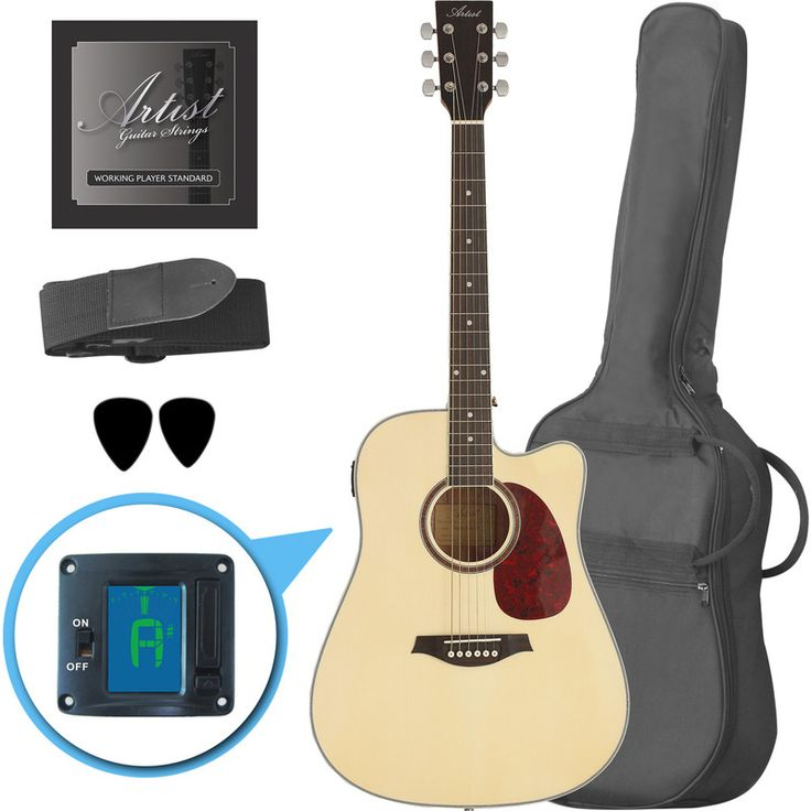 Artist Beginner Acoustic Guitar Kit with Cutaway   Buy Acoustic Guitars