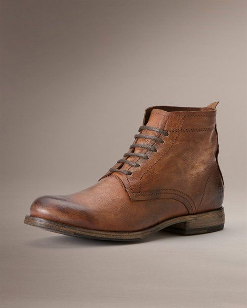 Johnny Lace Up - View All Mens Boots - Western Boots, Harness Boots, & More - The Frye Company. Same boot, different colour!