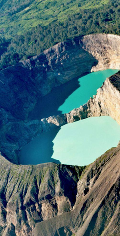 Kelimutu crater lakes in Flores Island, Indonesia. # ...