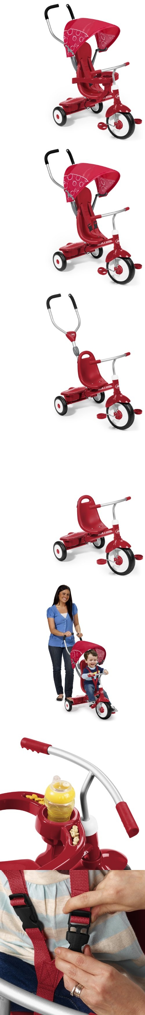 Radio Flyer 4-in-1 Trike Red -  Radio Flyer 4-in-1 Trike Radio Flyer 4-in-1 Trike can provide children with endless riding fun. This 4-in-1 trike has the ability to convert from a stroller to a steering trike, learning-to-ride trik... - Kids' Tricycles - Toys$86.33