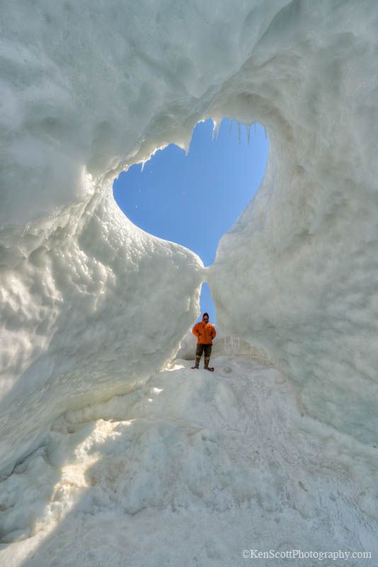 Ice Cave, Lake Michigan - Nature's Heart formation