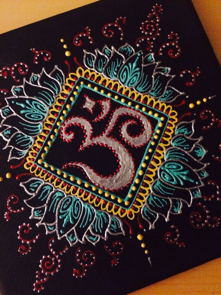 How To Paint A Mandala On Canvas
