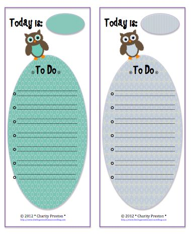 """""""Whooo"""" Needs a New To-Do List Template? - The Organized Classroom Blog"""
