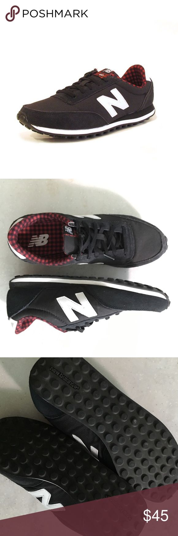 New Balance 410 Women's New Balance 410's. Black with plaid interior. Used/worn once. Still in great, almost new condition! Clean. Size is 10 but runs small (not like other NB fit) id say fits a women's size 8-9.  Please feel free to ask me any questions or make an offer! Shoes Sneakers