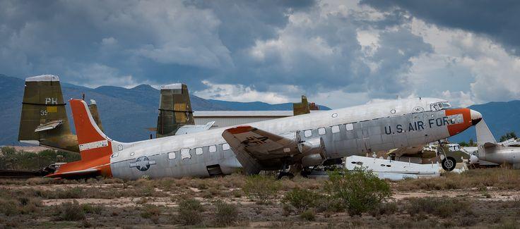 https://flic.kr/p/WSXHvA | Douglas C-118_DSCF0362_SCY | Douglas C-118 Tucson, AZ July 23, 2017 - Heavily cropped from full image. In explore.