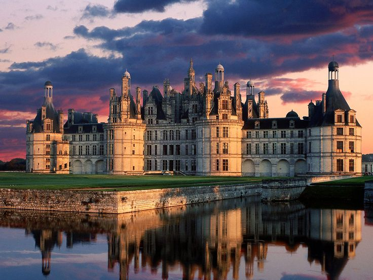 Château de Chambord, Loire Valley, France. Visited summer 2004. It really is just like a fairytale castle from a storybook.