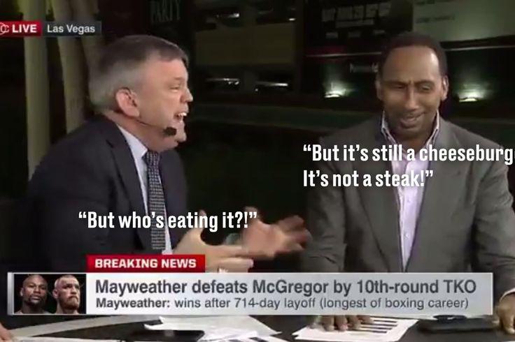 Mayweather-McGregor debate se convierte en Stephen A. Smith y Teddy Atlas gritando acerca de hamburguesas