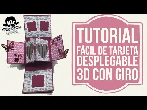 Tutorial fácil Tarjeta desplegable pop up con giro (twist & pop card) - YouTube