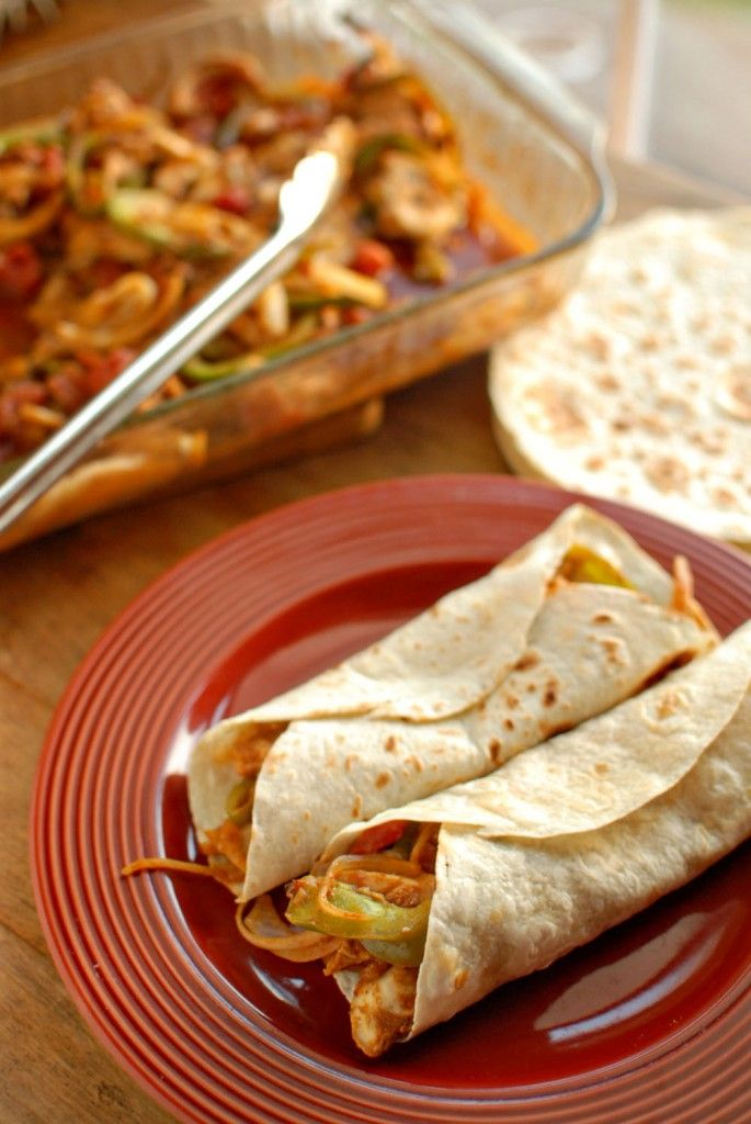 Baked Chicken Fajitas...inspired from a Taste of Home recipe