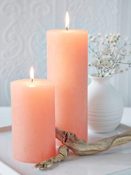 Peach Pillar Candles Nordichouse Pillar Candles Luxury