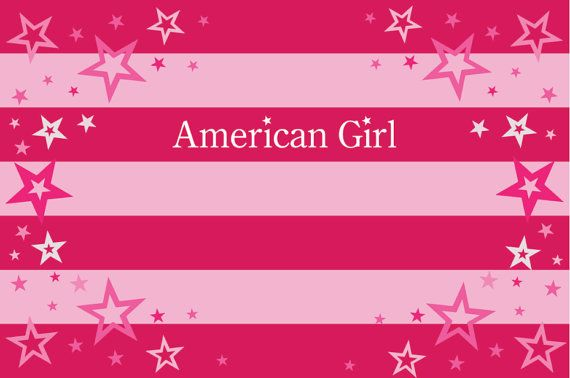 American Girl Birthday Party Backdrop - American Girl Party Background - American Girl Printable Birthday - American Girl Party Decoration