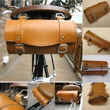 Brown Pure leather Comfortable Soft Vintage Bicycle Tool Bag Tail Bag (Kit)