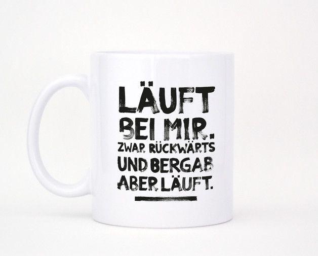 """Sie sind endlich da! Unsere Tassen bedruckt mit vielen Eurer liebsten Formart-Motiven.  Hier gibt es das Motiv """"Läuft bei mir"""" zu bestaunen und zu kaufen :) Die Tasse ist beidseitig mit dem Motiv..."""