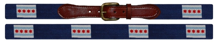 Smathers & Branson Chicago flag needlepoint belt - combining two things I love: Chicago and the occasional, over-the-top preppy touch.