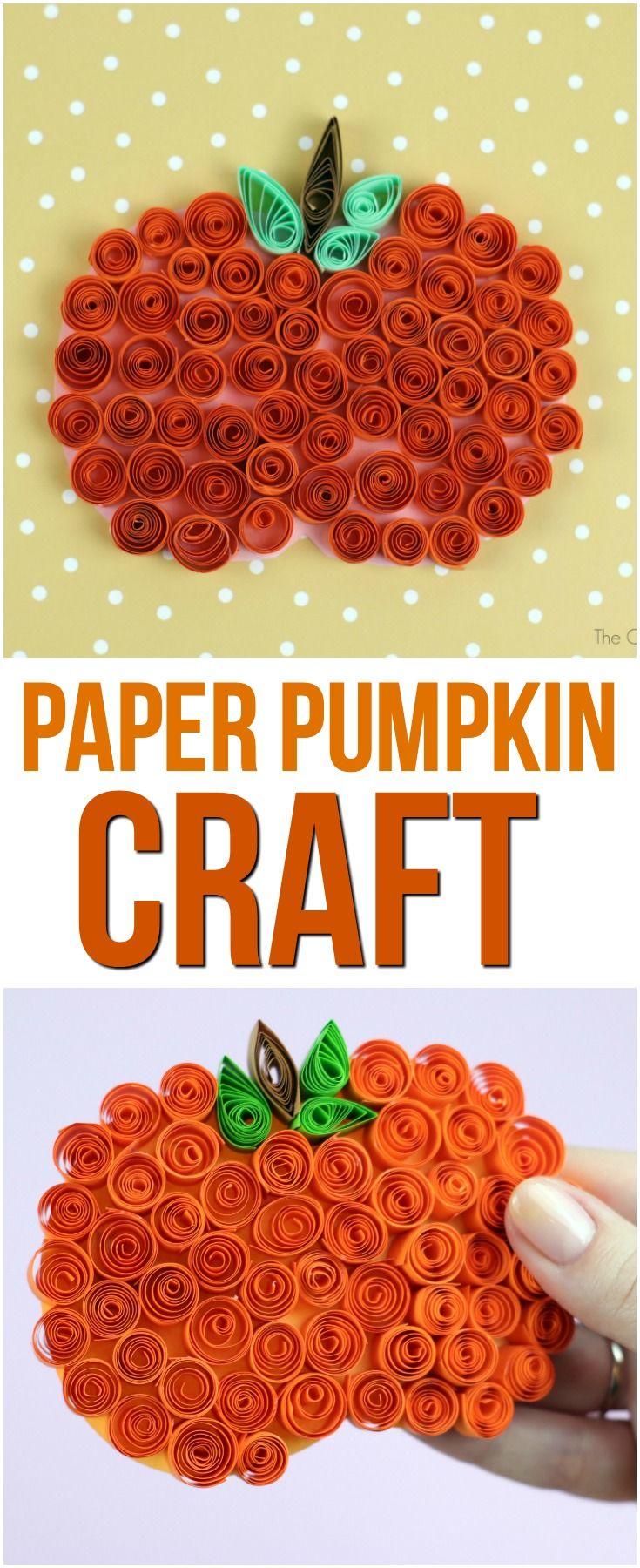 36+ Paper pumpkin craft tutorial ideas