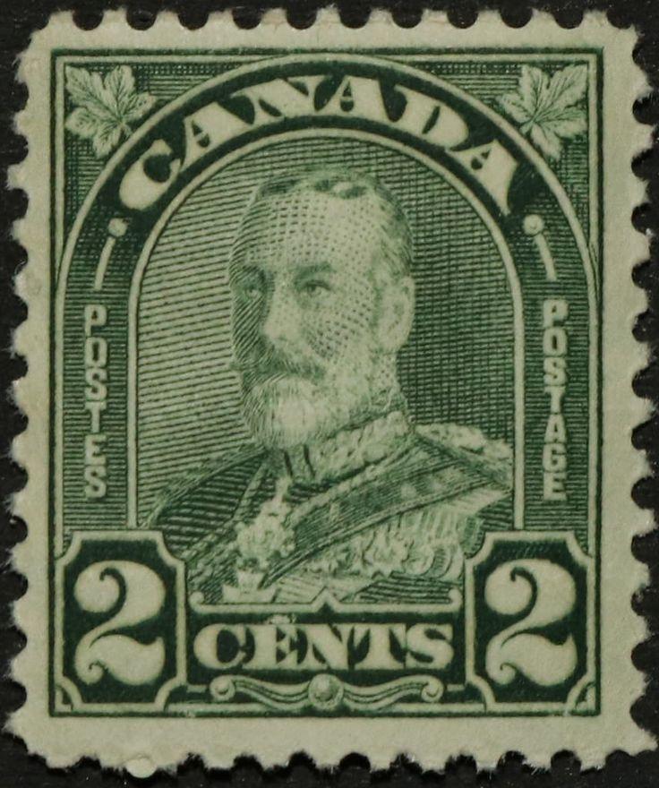 "https://flic.kr/p/RsAvM9 | SC #164 - Mint | Canada Postage Stamp 1930 2¢ King George V ""Arch/Leaf"" Issue"