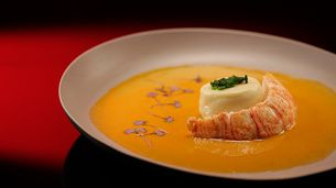 Scallop Mousse with Lobster Sauce